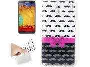 Mustache Pattern TPU Protective Case for Samsung Galaxy Note 3 / N9000 9SIA6RP2VY1372