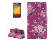 Peony Flowers Pattern Leather Case with Card Slots & Holder for Samsung Galaxy Note 3 / N9000 9SIA6RP2VY1612