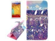 Flower Pattern Leather Case with Holder & Card Slots & Wallet for Samsung Galaxy Note 3 / N9000 9SIA6RP2VY2886