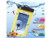 WP-160C Yellow Waterproof Bag with Armband & 3.5mm Waterproof Headphone Jack for Samsung Galaxy SIII / i9300 / Galaxy SII / i9100, Water-proof Depth: 10M  (IPX8)