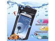 WP-160C Black Waterproof Bag with Armband & 3.5mm Waterproof Headphone Jack for Samsung Galaxy SIII / i9300 / Galaxy SII / i9100, Water-proof Depth: 10M  (IPX8))