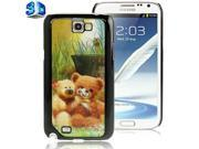 3D Effects Style Bear Doll Pattern Plastic Protector Case for Samsung Galaxy Note 2 / N7100 9SIA6RP2WB2774