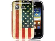 Retro USA Flag Plastic Protection Case for Samsung Galaxy Pocket / S5300