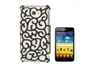 Chinese Hollow Vines Style Plating Protective Shell for Samsung Galaxy Note / i9220 / N7000, Note LTE / N7005 (Black)