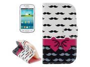 Mustache and Bow Pattern Leather Case with Holder for Samsung Galaxy Trend Lite s7392 9SIA6RP2WB0057