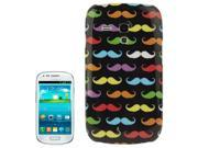 Colored Mustache Pattern  Plastic Case for Samsung Galaxy S3/ i8190 9SIA6RP2WB2298