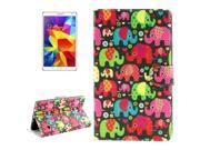 Elephant Pattern Horizontal Flip Leather Case with Card Slots & Holder & Bills Pocket for Samsung Galaxy Tab S 8.4 / T700