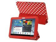 Dot Series Leather Case with Holder for Samsung Galaxy Tab 2 10.1 P5100 Red Red