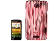Anrut Stripe Pattern Plastic Case for HTC One X / S720e  (Red)