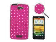Luxury Bling Diamond Plating Skinning Plastic Case for HTC One X / S720e  (Magenta)