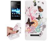Butterfly Dancing Pattern TPU Protective Case for Sony Xperia E Dual / C1605