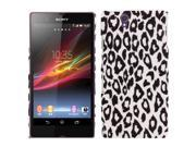 White Leopard Texture Pattern Plastic Protective Case for Sony Xperia Z / L36h / C6603
