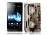 Tape Pattern Plastic Case for Sony Xperia go / Xperia advance / ST27i / ST27a
