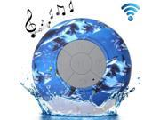 Sea World Pattern Mini Waterproof Bluetooth Speaker with Suction Cup for iPad / iPhone / Other Bluetooth Mobile Phone, Support Handfree Function, BTS-06 9SIA6RP2WE1902