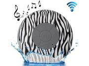 Zebra Pattern Mini Waterproof Bluetooth Speaker with Suction Cup for iPad / iPhone / Other Bluetooth Mobile Phone, Support Handfree Function, Splash-proof Level 9SIA6RP2WE1911