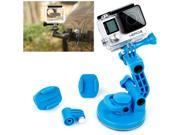 TMC Car Suction Cup Mount + Tripod Adapter + Handle Screw for GoPro Hero 4 / 3+ / 3 / 2 / 1 (Blue) 9SIA6RP34R5417