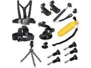 13 in 1 Chest Belt + Wrist Belt + Head Strap + Floating Bobber Monopod + Screws +  Suction Cup Mount Set for GoPro HERO4 /3+ /3 /2 /1 / SJ4000 9SIA6RP34R8931