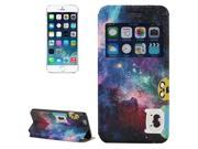 Adventure Time Jake and Finn Amazed Nebula Pattern Leather Case with Holder & Caller ID Display for iPhone 6 9SIA6RP34Y5857