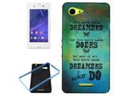 WHO DO Pattern PC Frame + Synthetic Rubber Back Shell Combination Case for Sony Xperia E3