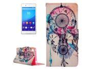 Dream Catcher Wind Chime Pattern Cross Texture Leather Case with Holder & Card Clots & Wallet for Sony Xperia Z4