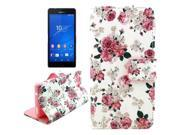 Floral Pattern Leather Case with Holder & Card Slots & Wallet for Sony Xperia Z3 Compact / D5803
