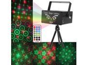 2-color Holographic Anime Laser Stage Lighting Fireworks Projector with Remote Control & Dynamic Liquid Sky, Support Sound Active / Auto-mode (Black)