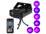 2 color LED 6 in 1 RGB Mini Disco DJ Club Holographic Laser Projector with Remote Control Sound Active Auto Made Function