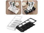 TV DVD VCR Step Remote Control Cell Phone Holder Stand Storage Organiser (White)