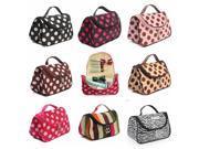 Zebra Stripe Portable Makeup Cosmetic Case Storage Travel Bag 01