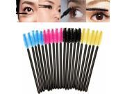 50 pcs Eyelash Eyebrow Makeup Brushes Disposable Mascara Wands Black
