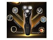3D Kemei Men Washable Razor Rechargeable Rotary Electric Shaver