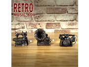 Retro Mini Cranked Music Box Phonograph Telephone Sewing Machine #01 9SIA6RP3805095