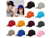 Unisex Outdoor Sport Baseball Golf Tennis Hiking Ball Cap Hat 13 Pure Colors For Choice (Coffee) 9SIA6RP3866204