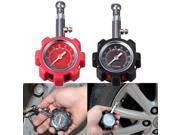 Car Truck Tire Air Pressure Dial Gauge Meter Tester Motorcycle Bike 100PSI Red