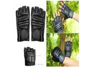 Men's Sports Motorcycle Cycling Driving PU Leather Half-Finger Gloves 9SIA6RP3922275