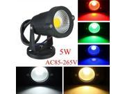 5W IP65 LED Flood Light With Base For Outdoor Landscape Garden Path AC85-265V Green