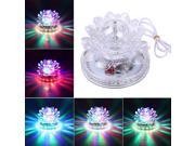 LED Crystal Lotus Rotating RGB Sunflower Stage Effect Lighting For Disco Bar KTV Party 9SIA6RP3AM3174