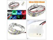 50CM SMD 5050 Non-Waterproof LED Flexible Strip Light PC Computer Case Adhesive Lamp Blue