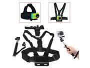 4 In 1 Chest Head Strap Mount Handle Monopod Accessories For GoPro 1 2 3 3 Plus 4 Xiaomi Yi SJ4000 SJ5000 SJcam