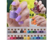 24 Colors Velvet Flocking Nail Art Powder Dust Decoration Glass Pot 018