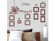10Pcs DIY Photo Frames Wall Stickers Flower Rattan Decal Vinyl PVC Home Decoration 9SIA6RP3BP3800