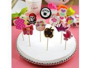 12Pcs pack Paper Cake Topper Birthday Party Cupcake Food Picks Toppers Cake Decoration Crown