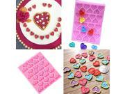 Heart Shape Alphabet English Letter Silicone Mold Fondant Cake Mould