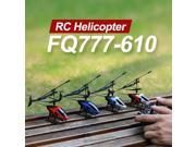 FQ777 610 AIR FUN 3.5CH RC Remote Control Helicopter With Gyro RTF Black Blue