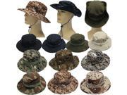 Military Boonie Hat Camo Cover Wide Brim Camouflage Camping Hunting Cap Army Green