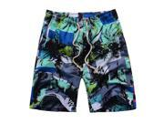 Summer Men Dacron Colorful Beach Surfing Swimming Sport Board Shorts Seven Colors Blue White S