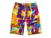 Men Summer Colorful Beach Surfing Swimming Sports Board Shorts B XL