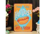 Hot Dog Sheet Metal Drawing Retro Metal Pub Club Tavern Cafe Shop Poster Sign Tin Decor 9SIA6RP3DD3729