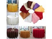 120cm Polyester Absorbent Round Tablecloth For Hotel Restaurant Wedding Purple