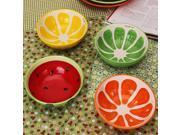 Handmade Ceramic Bowl Hand Painted Fruit Watermelon Rice Bowl Soup Ceramic Bowl Lemon